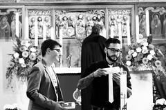 Christening/Taufe (Elis Abeth) Tags: light people church licht kirche indoor menschen christening weiss schwarz taufe paten feier taufpate