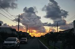 Sunrise at Joo Pessoa (Eduardo P. Filho) Tags: road travel brazil luz sol rain brasil sunrise 35mm drive grande pessoa nikon br chuva estrada carro f18 230 joao paraiba viajar nordeste nascer campina dirigir br230 d5000