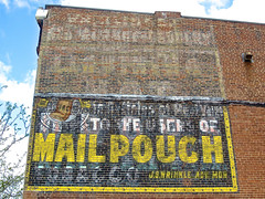 Mail Pouch Ghost Sign, Lancaster, OH (Robby Virus) Tags: ohio sign mail ghost ad advertisement faded pouch lancaster chewing tobacco