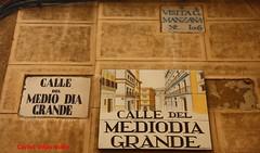 Azulejo de la calle Medioda Grande. Madrid (Carlos Vias-Valle) Tags: azulejo callemediodiagrande