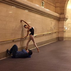 A photo of a photo shoot in #grandcentralstation ... Hundreds of people about yet they look to be alone ... So cool. #grandcentralterminal #ballerina #photoshoot #station #pose #newyork #nyc (w_cross) Tags: nyc newyork station pose ballerina photoshoot grandcentralstation grandcentralterminal instagram ifttt