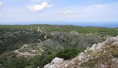 20150526_122630LC (Luc Coekaerts from Tessenderlo) Tags: road mountain flower public rock landscape outdoor hill nobody greece creativecommons winding corfu vak grc windingpath cc0 karousades palaichoro coeluc vak201505corfu