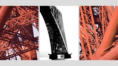 Forth Bridge Triptych (that petrol emotion) Tags: heritage scotland triptych fife railway scotrail unesco francisbacon powerpoint byzantine firth forthbridge southqueensferry northqueensferry eastlothian cantilever networkrail abellio madefromgirders leighpaints