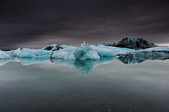 Glacial Lagoon {Explored April 27th, 2016} (Marshall Ward) Tags: winter storm ice landscape iceland lagoon glacier icebergs stormyskies 2015 glaciallake icebeach stormapproaching nikond800 afszoomnikkor2470mmf28ged marshallward