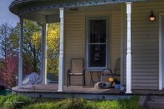 Chair on a porch (LarryHB) Tags: old urban house horizontal landscape photography spring purple explore missouri porch hdr 2016 capegirardeaucounty