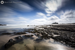 Castle Bamburgh, Northumberland (Silent Eagle  Photography) Tags: longexposure blue sea sky white seascape castle beach water beauty clouds canon photography mar yahoo big google rocks silent eagle outdoor wave northumberland lee sep northeast bamburgh wather stops brillant bamburghcastle leefilters canoneos5dmarkiii silenteaglephotography silenteagle09