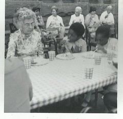 curious table mates (912greens) Tags: kids children eating elderly africanamericans 1960s picnics attable folksidontknow