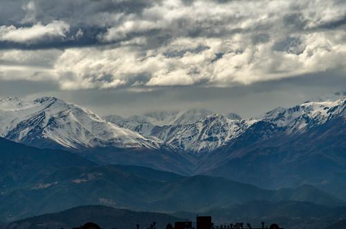 Cordillera de los Andes después de la lluvia