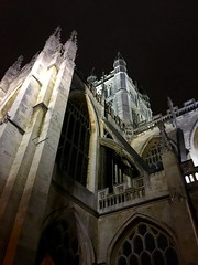 Bath Abbey at night! (Seymour Travels Small Group Tours) Tags: light england history church abbey architecture night religious travels bath artistic britain gothic somerset tours seymourtravels