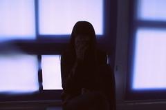 Afterschool light (Fanny $_$) Tags: blue school windows light portrait window purple chairs empty class tables curtains