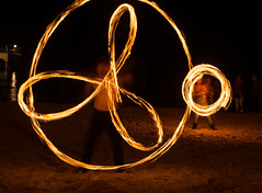 (Attila Pasek) Tags: show night fire free poi attraction firepoi longexposuretime boscombepier firejam logibenedictson