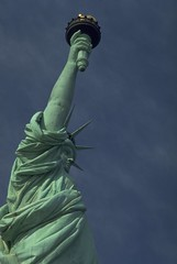 Statue of Liberty, New York (travelnotes) Tags: nyc newyorkcity travel blue sky usa newyork statue america liberty island photography freedom unitedstates landmark statueofliberty michel touristattraction travelphotos travelnotes travelpics interestingperspective michelguntern