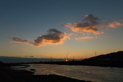 8Yodo River at sunset (anglo10) Tags: sunset japan river