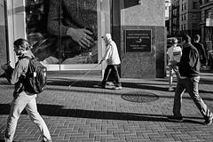 Market St, San Francisco (noitacifier) Tags: sanfrancisco street blackandwhite film triangles 35mm documentary trio marketst contaxg2