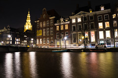 Amsterdam -Canal with Westerkerk Church on the background - (CristinaProietti) Tags: new old eve holland church netherlands amsterdam buildings canal reflex background years olanda canale palazzi riflesso sfondo westerkerk paesi bassi