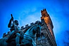 palazzo vecchio (.VSPhotography) Tags: italy florence italia primo di firenze piazza della palazzo cosimo statua vecchio signoria equestre