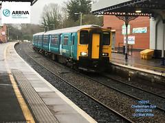 ARRIVA TRAINS WALES 150237 ARRIVING FROM MAESTEG AT CHELTENHAM SPA 06022016 (MATT WILLIS VIDEO PRODUCTIONS) Tags: from wales trains spa cheltenham arriving arriva maesteg at 150237 06022016