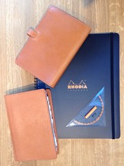 Ready for some serious note-taking (g_m_a_x) Tags: orange leather vintage personal tan organizer a4 planner filofax pigskin binder bridle organiser rhodia rotring