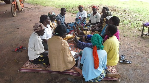 Women attending a GSP group session in Paibona village Gulu district