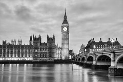 Palace of Westminster & Big Ben - 24 Jan 2016 (starman 59) Tags: bridge blackandwhite white black reflection building london tower clock jeff water monochrome westminster thames canon river landscape eos lights mono blackwhite jan housesofparliament bluehour iconic riverthames hdr westminsterbridge palaceofwestminster 2016 photomatix schwingen eos5dmk3 jeffschwingen