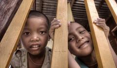 Bars and smiles (Saint-Exupery) Tags: kid nikon burma smiles nios myanmar inlelake sonrisas birmania lagoinle