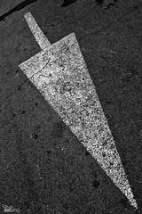 Señalado (ángel mateo) Tags: ángelmartínmateo ángelmateo asfalto flecha blancoynegro señal asphalt blackandwhite arrow sign