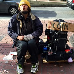 coin collector (vhines200) Tags: sanfrancisco sign homeless 88 panhandler 2016