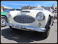 Austin-Healey 100/6, 1959 (v8dub) Tags: auto old 6 classic car austin schweiz switzerland automobile suisse automotive voiture oldtimer british 100 oldcar healey collector 1959 vevey wagen pkw klassik worldcars
