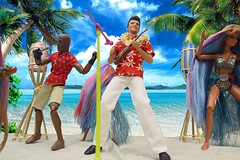 We're gonna rock this tropic!  Ayeah!  Uhuh! (MayorPaprika) Tags: barbie luau 16 custom mattel elvispresley powerteamelite toysunday elitecorps