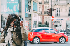 (Paula.HK) Tags: travel portrait people paris france cute film girl beautiful beauty fashion photoshop self vintage asian 50mm outfit nikon women europe pretty    tavel lightroom   selfie    coordinate   vsco