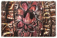 """""""Inspiral"""" by INSPIRE (detail) (www.InspireCollective.com) Tags: street wood flower ink work painting typography design wooden etching artwork artist acrylic interior character board paintings arts east oil middle inspire eastern artworks reuse inspirations inspiral aeorsol"""