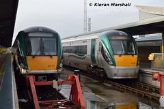 22040 and 22036 at Heuston, 29/1/16 (hurricanemk1c) Tags: dublin irish train rail railway trains railways irishrail rok rotem heuston 2016 icr iarnród 22000 22036 22040 éireann iarnródéireann premierclass 5pce 1350heustonlimerick