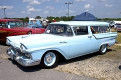 1957 Ford Ranch Wagon (Thumpr455) Tags: auto show blue ford car automobile union may southcarolina lifestyle nostalgia 1957 stationwagon dragrace 2door 2015 ranchwagon worldcars steelinmotion unioncountydragway