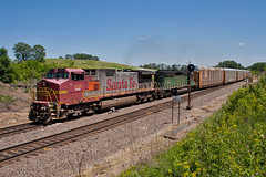 East Switch Burke (Trainboy03) Tags: santa burlington illinois il fe northern burke bnsf 635