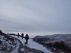 (Bethany H Hutton) Tags: people dog mountain snow walking scotland hiking walk hill perthshire tracks footprints hike footprint