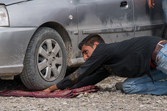 car rolling on the hand of a man, Hormozgan, Minab, Iran (Eric Lafforgue) Tags: show people man men car horizontal rural outdoors photography pain asia hand power control iran display market circus muslim faith performance culture persia scene attitude shock marketplace perform bazaar performers performer unexpected extraordinary adultsonly tyre abnormal expectations oneperson shocking physical middleeastern entertain surprising astonishing uncommon menonly youngadultman hormozgan  onemanonly  1people  iro  minab colourpicture  panjshambebazar irandsc06531