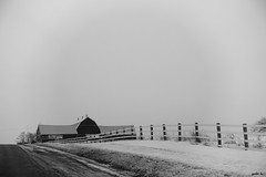 Uphill (gabi-h) Tags: road winter snow barn rural fence farm january bleak uphill princeedwardcounty gabih