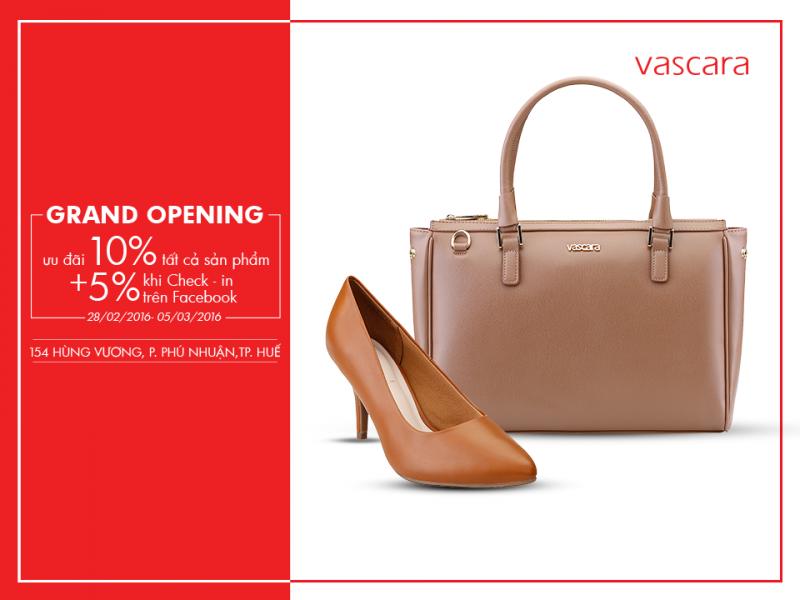 Khai trương cửa hàng Vascara Huế - ưu đãi 10% tất cả sản phẩm