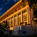 Northern Territory Parliament House at sunset.