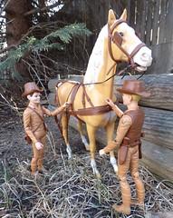 The West Boys (atjoe1972) Tags: horse vintage toys actionfigure cowboy retro western marx 1960s 1970s wildwest frontier botw thunderbolt oldwest johnnywest bestofthewest jaywest jamiewest atjoe1972