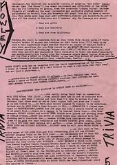 Trivia (stillunusual) Tags: punk punkrock 1970s 1977 pattismith whitestuff newwave runaways fanzine kimfowley punkzine therunaways sandyrobertson punkfanzine
