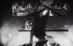 something kind of (Auteurian) Tags: selfportrait exposure doubleexposure blackandwhiteslow