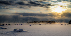Smoke on the water (Mika Laitinen) Tags: ocean winter sea sun white snow seascape cold ice nature water suomi finland landscape island frozen helsinki frost cost shore isle vuosaari uusimaa kallvik ef24105mmf4l canon7d