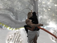 Angels and Demons3 (sanctussinful) Tags: snow ice beautiful beauty angel silver hair wings long mask magic tail horns bondage bdsm master secondlife ethereal romantic demonic enchantment celestial slave demons physique infernal dominant steampunk submissive slink secondlife:y=58 secondlife:x=37 niramyth secondlife:z=2503 secondlife:parcel=theoutergarden secondlife:region=outergarden