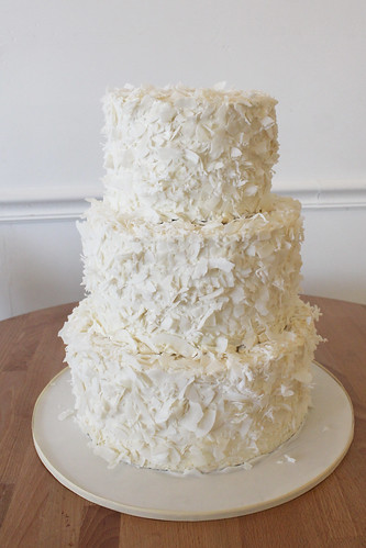 Coconut Flakes Buttercream Wedding Cake