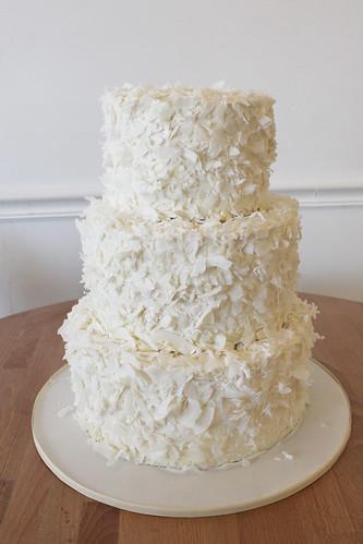 Coconut Flakes Buttercream Wedding Cake