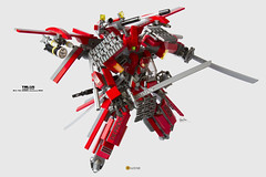 Talos MK.V. Full Bushido Specs; clmntinE Custom (clmntin.E) Tags: red brick robot 3d lego mechanical brother military hard mini robots seven future scifi samurai custom gundam swords armour printed spec blades futuristic mecha chen mech clement povray mocs minifigure moc gunpla afol ldd exo bushido gunblade miniland talos hardsuits minifigurine exosuits clmntine
