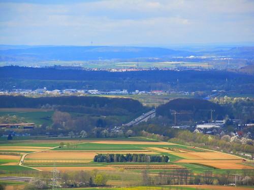 A8 alte Fahrbahnteilung am Aichelberg April 2012_010
