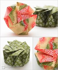 Origami Boxes (Maria Sinayskaya) Tags: square origami folded tomokofuse origamibox chiyogamipaper singlesheetorigami fusevariousboxesandcases isbn4416303025 isbn9784416303023