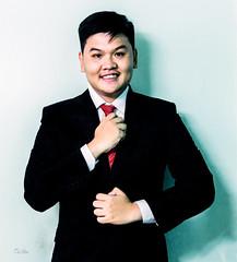Self Portrait (Black Baron93) Tags: portrait selfportrait me asian vietnamese suit justme redtie insuit blacksuit meninsuit